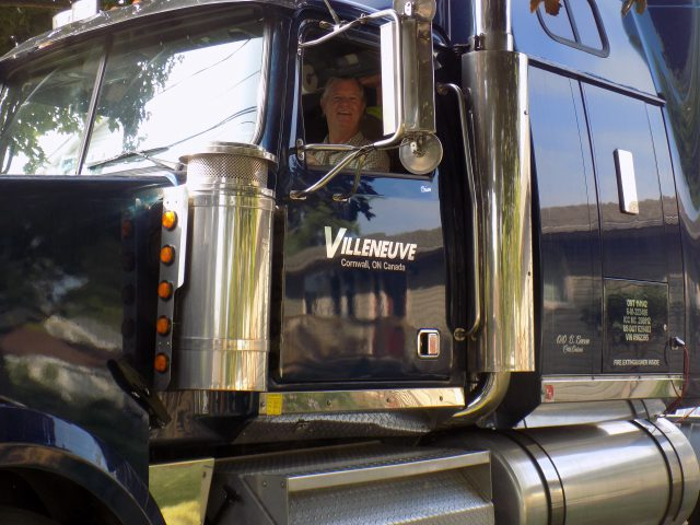 Travelling in a big semi tractor trailer