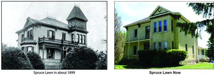 Spruce Lawn 1899 and 2017