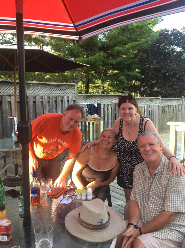Travelling Friends getting together in London Ontario