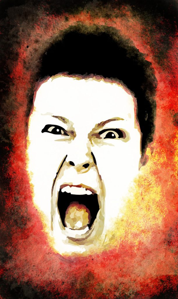 Woman frightened