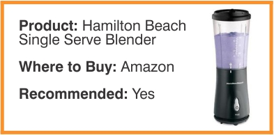 Hamilton Beach Single Server Blender