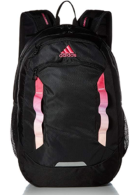 A black and pink Adidas Excel III Backpack