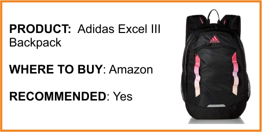Adidas Excel III Backpack Review