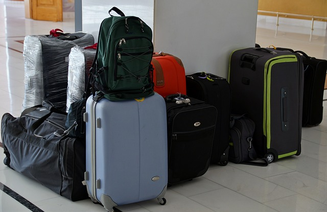 Assortment of suitcases