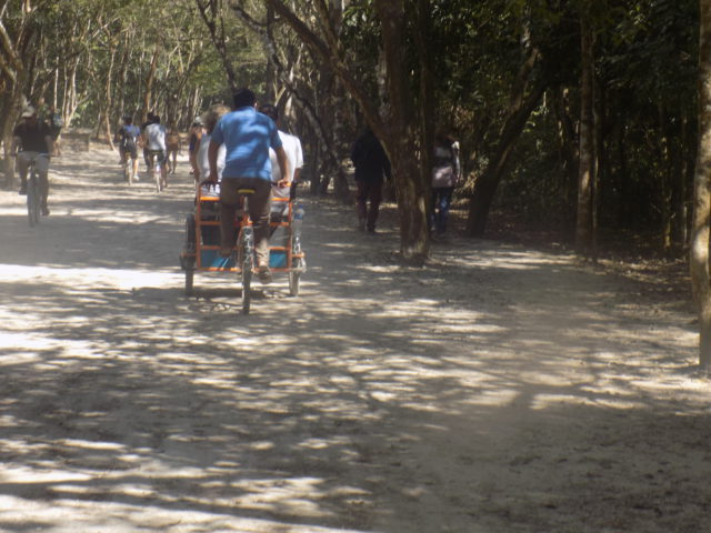 Chauferred on a Tricycle at Tulum Ruins