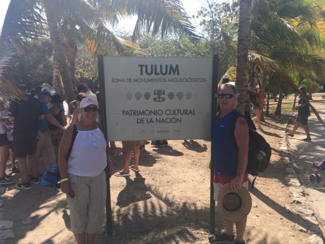Entrance way to Tulum Ruins
