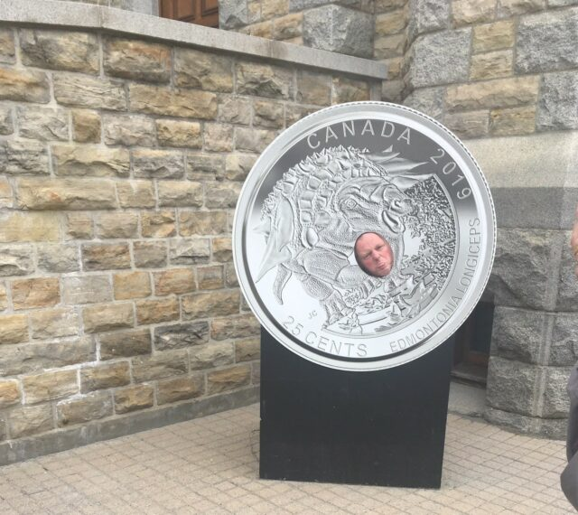 Man posing outside Royal Canadian Mint